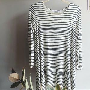 😎 BOGO - Fighting Eel Long Slv Stripe Swing Dress